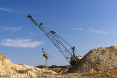 Big dipper dragline excavator Royalty Free Stock Photos