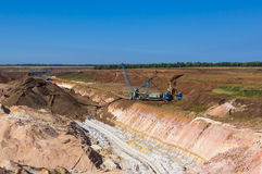 Big dipper dragline excavator Stock Photo
