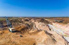 Big dipper dragline excavator Royalty Free Stock Images
