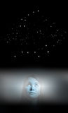 Big Dipper and girl in white Royalty Free Stock Images