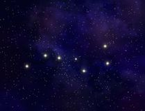 Big Dipper illustration Royalty Free Stock Image