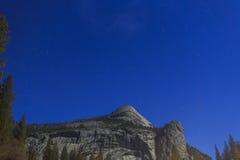 Big Dipper and North Dome of Yosemite. At night Royalty Free Stock Photo