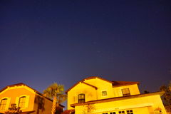 Big Dipper over the house Royalty Free Stock Photos