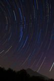 The Big Dipper star trail and Mount Tsukuba Stock Photography