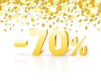Big Discount, action with share discount percentage 70. Vector illustration royalty free illustration