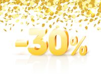 Big Discount, action with share discount percentage 30. Vector illustration royalty free illustration