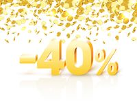 Big Discount, action with share discount percentage 40. Vector illustration vector illustration