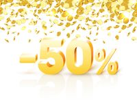 Big Discount, action with share discount percentage 50. Vector illustration royalty free illustration