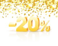 Big Discount, action with share discount percentage 20. Vector illustration royalty free illustration