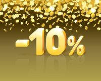 Big Discount, action with share discount percentage 10. Vector illustration royalty free illustration