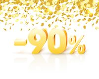 Big Discount, action with share discount percentage 90. Vector. Illustration vector illustration