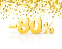 Big Discount, action with share discount percentage 80. Vector. Illustration royalty free illustration