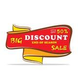 Big discount sale design Royalty Free Stock Image