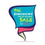 Big discount sale design Royalty Free Stock Photos