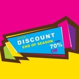Big discount sale design Royalty Free Stock Photo