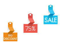 Big Discount Sale tag, sticker and label. Stock Image