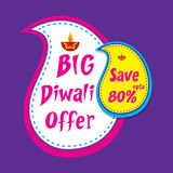Big diwali offer banner design. Creative big diwali offer banner design Royalty Free Stock Image