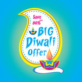 Big diwali offer banner design. Creative big diwali offer banner design Royalty Free Stock Images