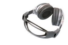 Big DJ headphones. Cool big multimedia stereo headphones, isolated over white background stock photos