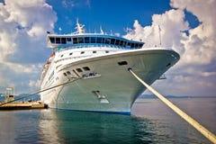 Big docked cruise ship view Royalty Free Stock Image