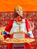 Big doll as the symbol of Maslenitsa during the folk carnival Stock Images