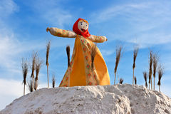 Big doll for the burning. Stock Images