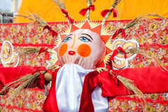 Big doll for the burning as symbol of winter during the Maslenit Royalty Free Stock Images