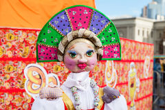 Big doll for the burning during the folk festival Maslenitsa or Stock Photography