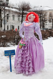 Big doll for Maslenitsa. Yaroslavl, Russia - March 5, 2016: Shrovetide in Russia. Big doll for the burning. Maslenitsa or Pancake Week is the Slavic Holiday that Stock Images