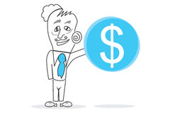 Big Dollar. Abstract design can be used in many jobs Stock Photos