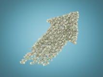 Big dollar arrows Royalty Free Stock Image