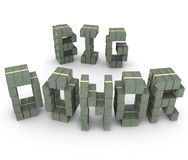Big Donor Cash Stacks Piles Letters Word Contributor Fundraiser Stock Photo