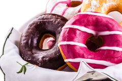 Big donuts Stock Images