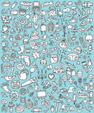Big Doodle Icons Set Royalty Free Stock Photography
