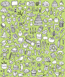 Big Doodle Icons Set Stock Photography