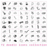 Big doodle set, collection icon, . Stock Photography
