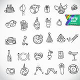 Big doodle set - holiday. This is file of EPS10 format Stock Images