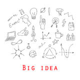Big doodle set - Idea, business Royalty Free Stock Images