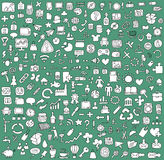 Big Doodled Web And Mobile Icons Collection Stock Photo