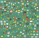 Big doodled web and mobile icons collection Stock Images