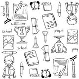 Big doodles element school education Stock Photos