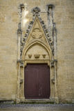 Big door with decoration Royalty Free Stock Images