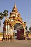 The big door in the temple Stock Image