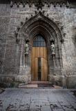 Big doorway at Catholic cathedral Royalty Free Stock Image