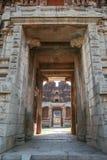 Big doorway at ruins in hampi Royalty Free Stock Photos
