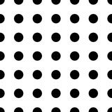 Big Dot seamless pattern. Abstract fashion black and white texture. Graphic style for wallpaper. Big Dot seamless pattern. Abstract fashion black and white Stock Photography