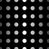 Big Dot seamless pattern. Abstract fashion black and white texture. Graphic style for wallpaper. Big Dot seamless pattern. Abstract metallic black and white Royalty Free Stock Photos
