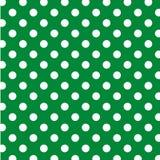big dots green polka seamless white 免版税库存照片