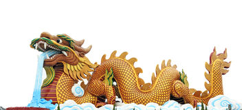 Big dragon. Chinese dragon in a chinese temple Royalty Free Stock Image
