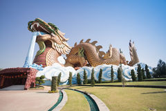 Big dragon at Dragon descendants museum. Suphanburi, Thailand Royalty Free Stock Photo